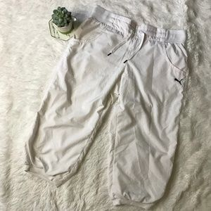 Puma White Capri/Crop Pants
